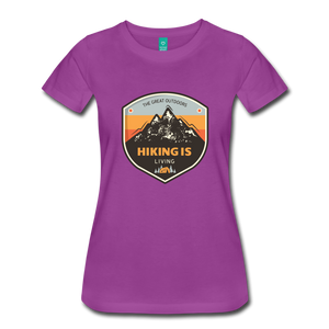 Women's Hiking T-Shirt - light purple