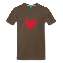 Load image into Gallery viewer, Men's Sunburst Heart Banjo T-Shirt - noble brown