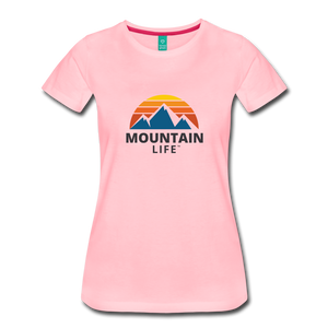 Women's Mountain Life Shirt - pink
