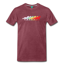 Load image into Gallery viewer, Men's Retro Rainbow Horse T-Shirt - heather burgundy