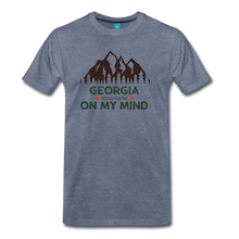 Load image into Gallery viewer, Men's Georgia on my Mind T-Shirt - heather blue