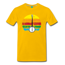 Load image into Gallery viewer, Men's Banjo Rainbow T-Shirt - sun yellow