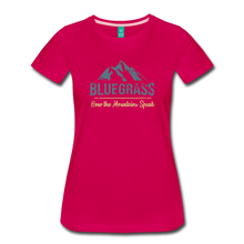 Load image into Gallery viewer, Women's Bluegrass Mountains Speak T-Shirt - dark pink