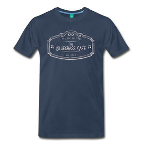 Men's The Bluegrass Cafe (music is life) T-Shirt - navy
