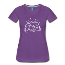 Load image into Gallery viewer, Women's Stay Wild T-Shirt (white) - purple