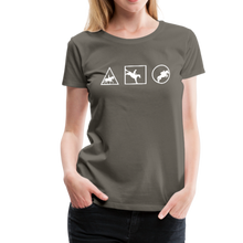 Load image into Gallery viewer, Women's Horse Symbols (solid) T-Shirt - asphalt gray