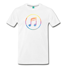 Load image into Gallery viewer, Men's Colored Music Note T-Shirt - white