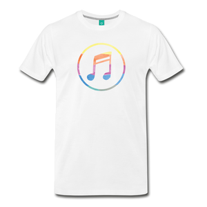Men's Colored Music Note T-Shirt - white