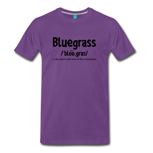 Men's Bluegrass Definition T-Shirt - purple