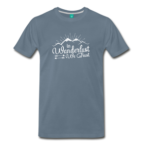 Men's Wanderlust T-Shirt (white) - steel blue