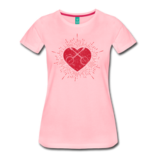 Load image into Gallery viewer, Women's Sunburst Heart Banjo T-Shirt - pink