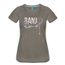 Load image into Gallery viewer, Women's Banjo Girl T-Shirt - asphalt