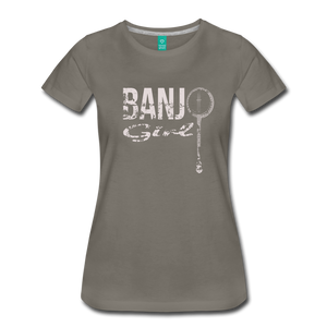 Women's Banjo Girl T-Shirt - asphalt