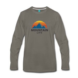 Men's Mountain Life Long Sleeve Shirt - asphalt