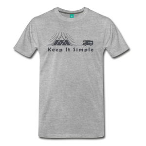 Men's RV Keep It Simple T-Shirt - heather gray