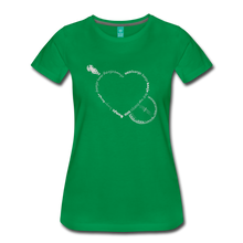 Load image into Gallery viewer, Women's Bnajo Heart T-Shirt - kelly green