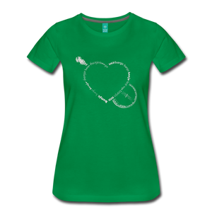 Women's Bnajo Heart T-Shirt - kelly green