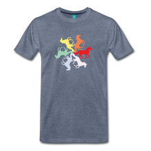 Load image into Gallery viewer, Men's Rainbow Horse Circle T-Shirt - heather blue