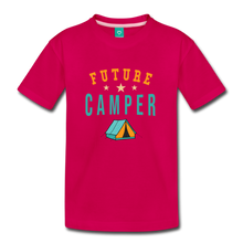 Load image into Gallery viewer, Toddler Future Camper T-Shirt - dark pink