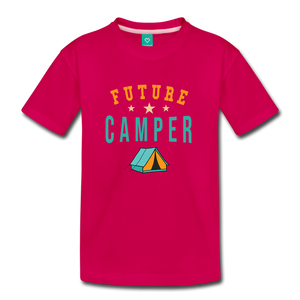 Toddler Future Camper T-Shirt - dark pink