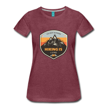 Load image into Gallery viewer, Women's Hiking T-Shirt - heather burgundy