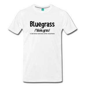 Men's Bluegrass Definition T-Shirt - white