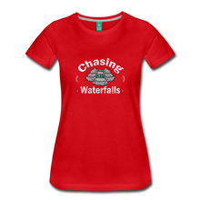 Load image into Gallery viewer, Women's Chasing Waterfalls T-Shirt - red