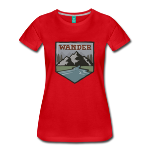 Women's Wander T-Shirt - red