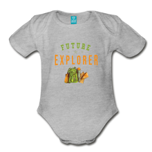 Load image into Gallery viewer, Future Explorer Baby Bodysuit - heather gray