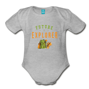 Future Explorer Baby Bodysuit - heather gray