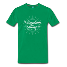 Load image into Gallery viewer, Men's Mountain Calling T-Shirt (white) - kelly green