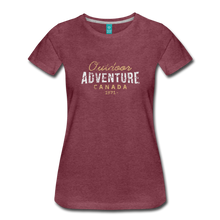 Load image into Gallery viewer, Women's Outdoor Adventure Canada T-Shirt - heather burgundy