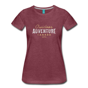 Women's Outdoor Adventure Canada T-Shirt - heather burgundy