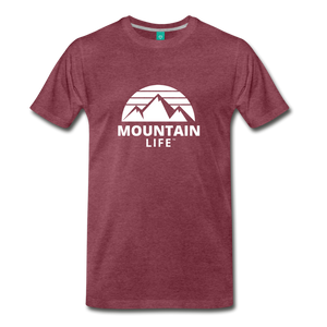 Men's Premium T-Shirt (white) - heather burgundy