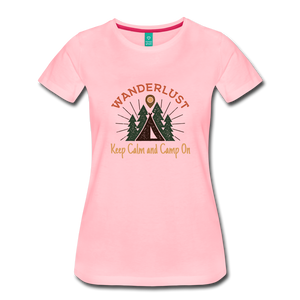 Women's Keep Calm, Camp On - pink