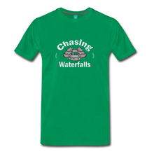 Load image into Gallery viewer, Men's Chasing Waterfalls T-Shirt - kelly green