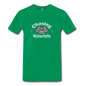 Men's Chasing Waterfalls T-Shirt - kelly green