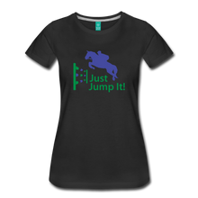Load image into Gallery viewer, Women's Just Jump It T-Shirt - black