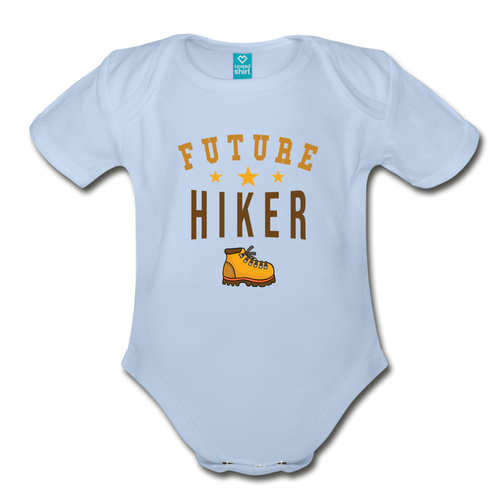 Future Hiker Baby Bodysuit - sky