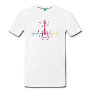 Men's Guitar Heartbeat T-Shirt - white