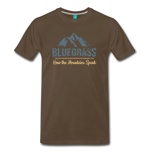 Men's Bluegrass Mountains Speak T-Shirt - noble brown