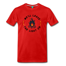 Load image into Gallery viewer, Men's We'll Leave the Light On T-Shirt - red