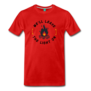 Men's We'll Leave the Light On T-Shirt - red
