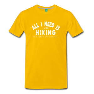 Men's All I Need is Hiking T-Shirt - sun yellow