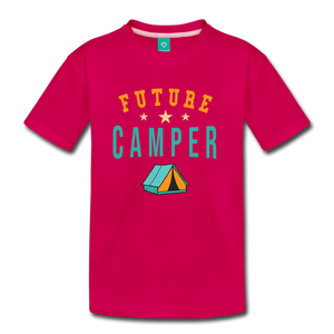 Kids' Future Camper T-Shirt - dark pink