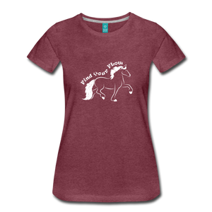 Women's Find Your Flow T-Shirt - heather burgundy