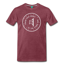 Load image into Gallery viewer, Men's Throw Your Heart T-Shirt - heather burgundy