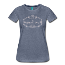Load image into Gallery viewer, Women's The Bluegrass Cafe (music is life) T-Shirt - heather blue