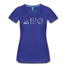 Load image into Gallery viewer, Women's Horse Symbols T-Shirt - royal blue