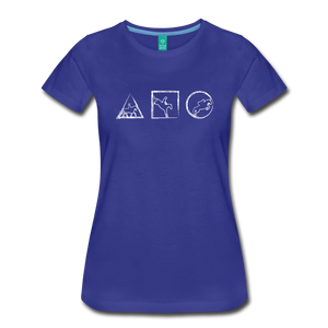 Women's Horse Symbols T-Shirt - royal blue